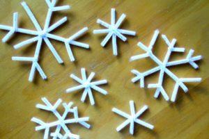 Снежинка из буры своими руками