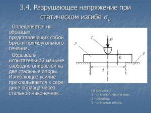 Разрушающее напряжение при изгибе - таблицы электронного справочника по химии, содержащие Разрушающее напряжение при изгибе