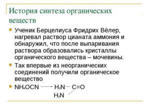 История органического синтеза