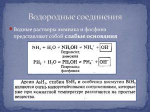 Соединения водорода и их применение