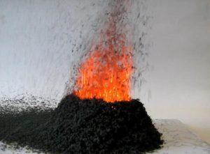 Химический опыт Вулкан