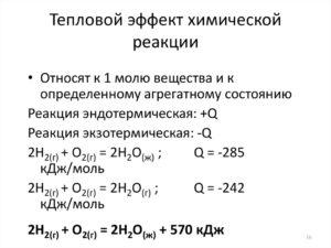 Тепловой эффект реакции