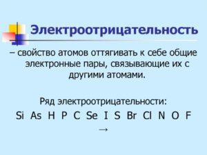 Электроотрицательность