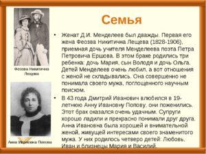 Женщины и дети Д.И. Менделеева